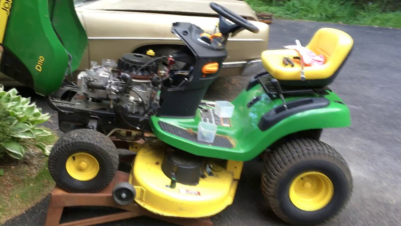 John Deere Replacement Engines : John deere lawn tractor d engine replacement youtube