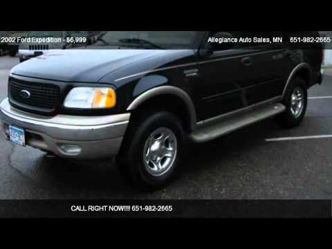 2002 ford expedition eddie bauer for sale in forest lake mn 55025 youtube. Black Bedroom Furniture Sets. Home Design Ideas