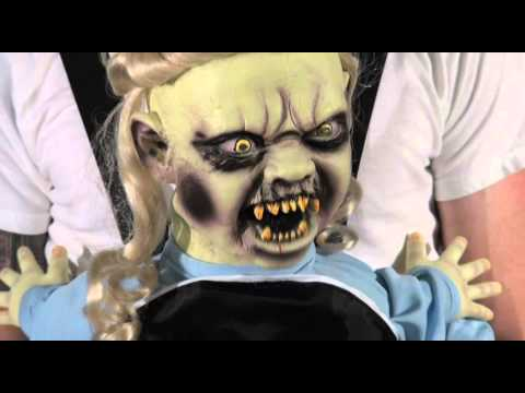 Halloween Zombie Baby Prop.Doll Face Zombie Baby Animated Decoration Prop Costume