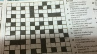 How To Solve Cryptic Crosswords - Tip 1: The One Word Anagram Clue - Includes Examples - Tutorial