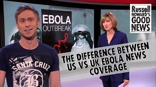 Russell Howard looks at the extreme difference in coverage of Ebola...