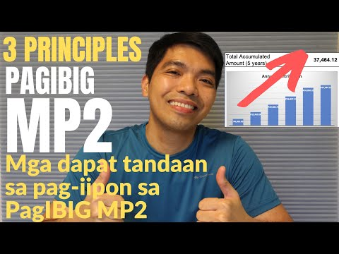 Three (3) MP2 Principles of Saving - Important Things to Note for MP2 Savings -