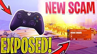 *NEW SCAM* How To HACK a SCAMMERS Controller And SCAM Their INVENTORY In Fortnite Save The World