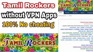 Open Tamilrockers without VPN apps or domain | Tamil |