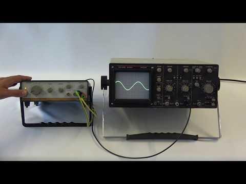 Oszilloskop mit  Frequenzgenerator