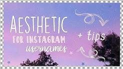 21 aesthetic username ideas for instagram  | Rarity's tutorials