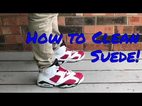 How to Clean Suede/Nubuck Shoes! (Works on NIKES, JORDANS, VANS etc)