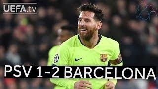 PSV 1-2 BARCELONA #UCL HIGHLIGHTS