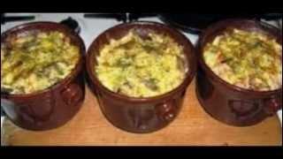 Мясо в горшочках с картофелем и грибами в духовке. Рецепт под видео.