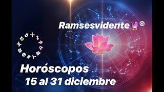 Aries ♈️ 15 al 31 diciembre Entrégate y libérate de karmas del pasado ✨ Ramsesvidente🔮®