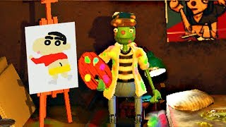 【小熙解说】画家模拟器 天才画家兄妹的诞生!用各种笔刷画出蜡笔小新和星空!Passpartout