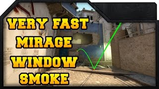 CS:GO - Fast Mirage Window Smoke
