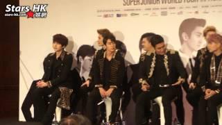 Super Junior World Tour Super Show 5 - 記者招待會