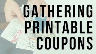 Real Extreme Couponing: Gathering Printable Coupons
