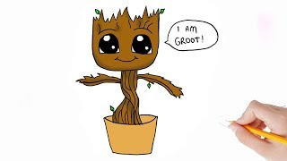 groot easy draw