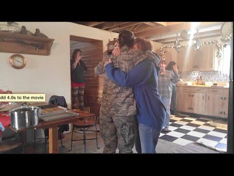 Military surprising family