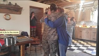 Air Force Surprise Christmas Homecoming