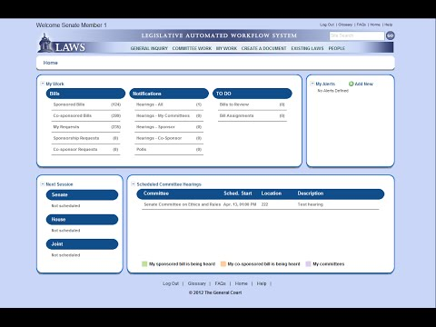 Legislative Automated Workflow System (LAWS)