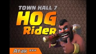 Hog Rider TH7 Atak 3 gwiazdki Clash Of Clans