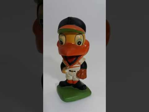 """The Bird"" Baltimore Orioles Baseball Nodder Bobblehead 1961 Lego Japan Vintage"