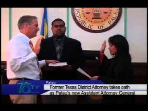 Texas Prosecutor Takes Oath As Palau's New AAG