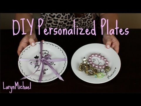 DIY Personalized Plates - for gifts and jewelry!