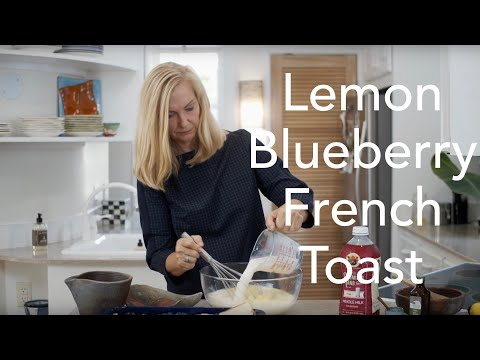 Lemon-Sugar Blueberry French Toast for a crowd