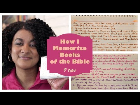 How I Memorize Books of the Bible ~ 9 Tips