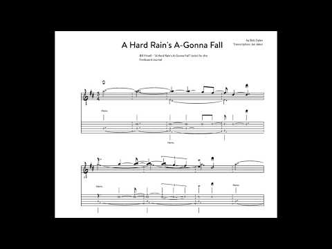 Guitar Minute Study #10: A Hard Rain's A Gonna Fall   Bill Frisell (solo) transcription excerpt
