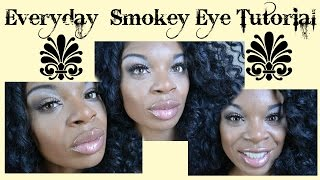 Everyday Smokey Eye Tutorial/ Black Radiance Palette