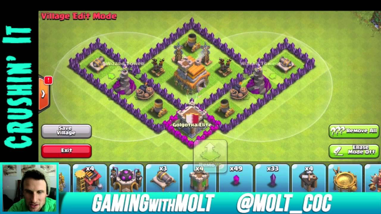 Clash of clans top th7 trophy base youtube