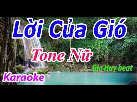 Lời Của Gió - Karaoke - Tone Nữ - Nhạc Sống - gia huy beat