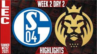 S04 vs MAD Highlights | LEC Summer 2021 W2D2 | Schalke 04 vs MAD Lions