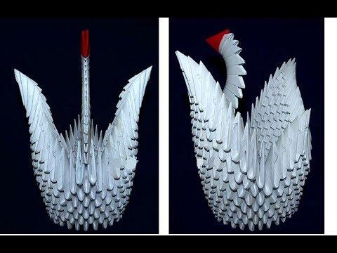 #7 Модульное оригами Лебедь (Modular origami Swan)