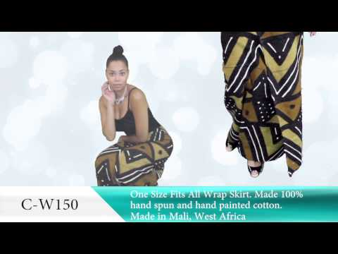 Mud Cloth Wrap Skirt - Africa Imports