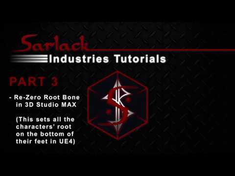 3D Studio MAX - Rezero Root Bone for UE4 Character from Daz