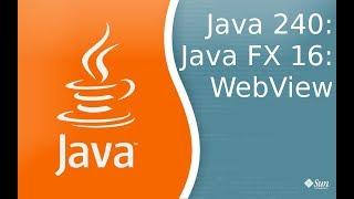 Урок Java 240: FX 16: Отображение HTML и JavaScript в WebView