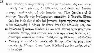 Koine Greek - John 13-21 (no markers)