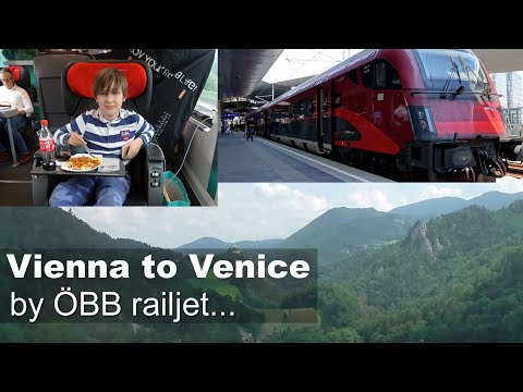 Vienna to Venice by railjet train