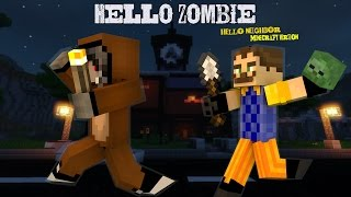 Minecraft : Hello Zombie สวัสดีเพื่อนบ้านเราไม่ใช่คนนะจุ้บๆ( Hello Neighbor ในมายคราฟ)