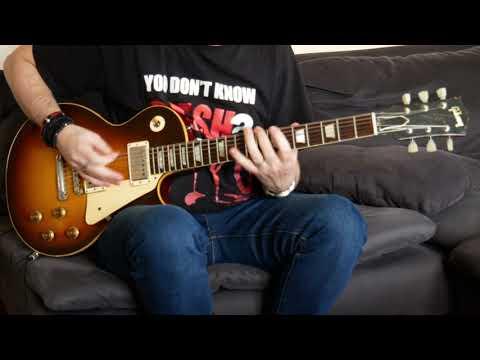 Slash – Blues Jam Live Brussels 2012 (guitar cover) with original Gibson Les Paul 1958!!