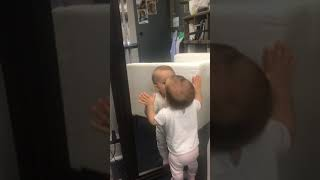 BABY LOVES KISSING BABY.??