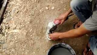 Mesin asah batu, alat asah batu akik sederhana dan cara menggerinda batu kecubung