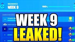 FORTNITE SEASON 9 WEEK 9 CHALLENGES LEAKED! ALL WEEK 9 CHALLENGES GUIDE SEASON 9 FORTNITE!