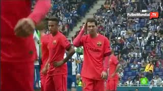 Insultos racistas contra Lionel Messi, Neymar y Luis Suarez de los aficionados del Espanyol