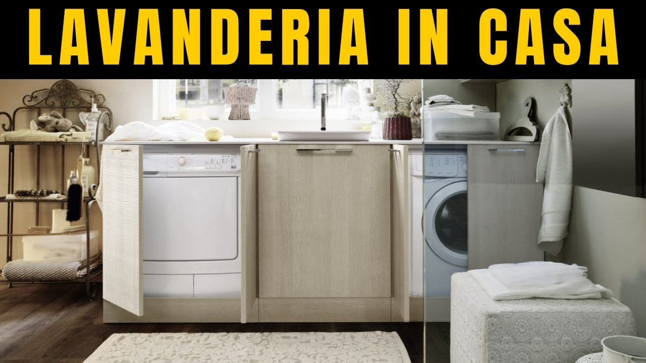 come arredare una lavanderia in casa ripostiglio bagno