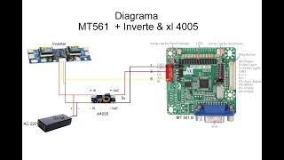 Reciclar, Reutilizar, reparar monitor LCD  con controladora universal MT561-B   + xl4005 // 2018