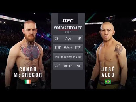 Conor McGregor Vs. Jose Aldo (EA Sports UFC 3) - CPU Vs. CPU