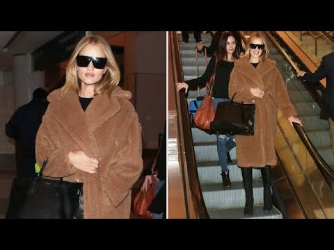 Rosie Huntington-Whiteley Turns Heads While Rocking Faux Fur