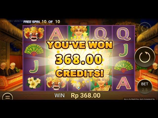 BALI DREAM, GAME SLOT Online Indonesia BANYAK FREE SPIN MINGGU INI!